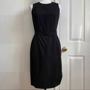 Calvin Klein Stretch Black Dress with Belt